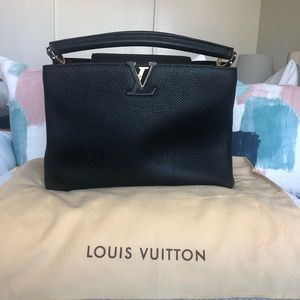 Authentic Louis Vuitton Lockme Leather Handbag